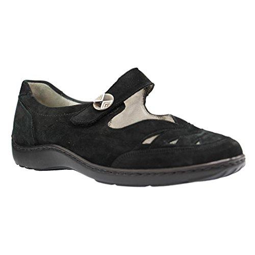 Waldloper dames slippers dames comfortabele slipper 496309 zwart 39471