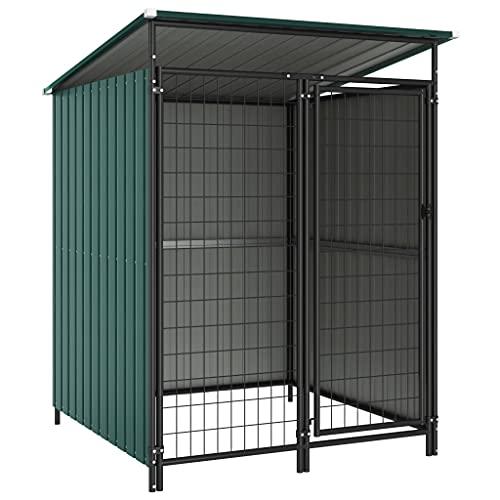 vidaXL Box per Cani da Esterno 133x133x164 cm Recinto Recinzione Cani Giardino