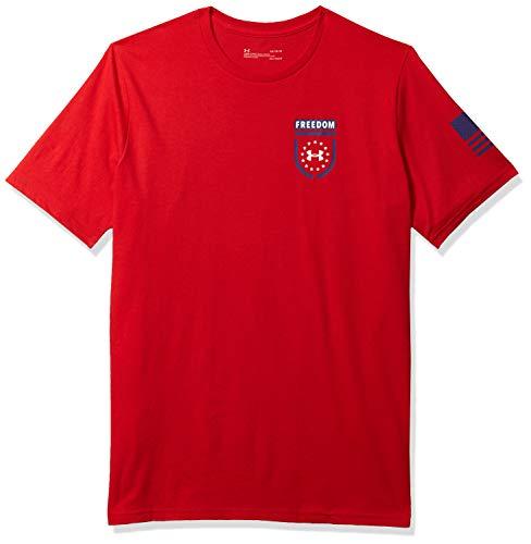 Under Armour Herren T-Shirt Freedom Sentinel, kurzärmelig, Herren, kurzärmelig, Freedom Sentinel Short Sleeve T-Shirt, Rot (601)/American Blue, Large
