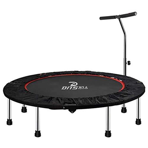 ZHAOJBC trampoline voor fitnessstudio, met verstelbare leuningen, vierkant frame in Negrita en voetenbuis voor coating, zwart, maximale belasting 350 kg