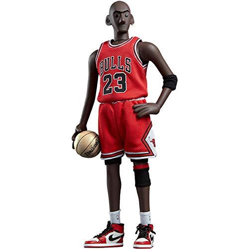 WANG NBA Basketball Star Nr. 23 Michael Jordan 1/6 Action Figur Spielzeugstatue Hochwertige Modellsammlung Dekorative Ornamente Weihnachten, Halloween, PVC