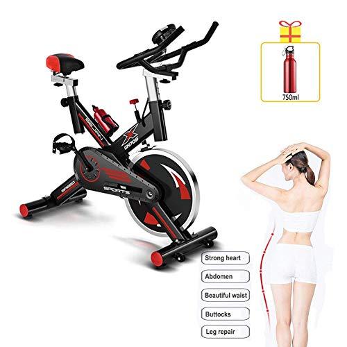RVTYR 2020 - Bicicleta de spinning móvil, ultra silenciosa, 150 kg, carga para ejercicio de la familia y ejercicio aeróbico, equipo de ejercicio físico, bicicleta spinbike