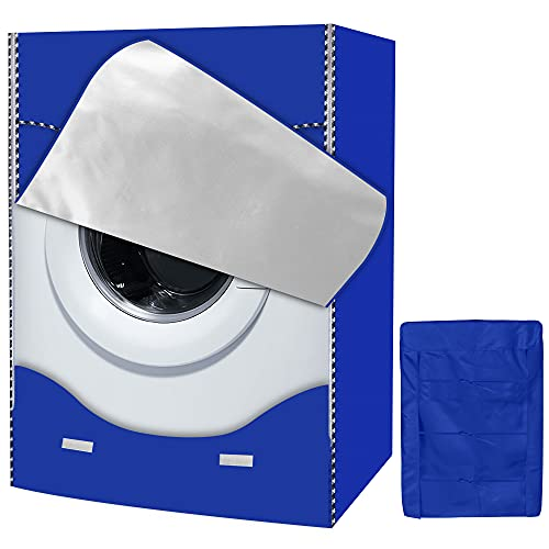AlaSou Copertura Lavatrice per Le lavatrici Esterno Copertura Impermeabile per Lavatrice e Asciugatrice di Carica (Blue,60x56x85cm)