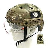 Casco Atairsoft tipo BJ con gafas, diseño tipo SAWT, militar, combate, para airsoft o paintball, Multicam MC