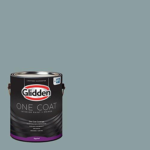 Glidden Interior Paint + Primer: Teal/Aqua Interior Paint /Aqua Smoke, One Coat, Eggshell, 1 Gallon