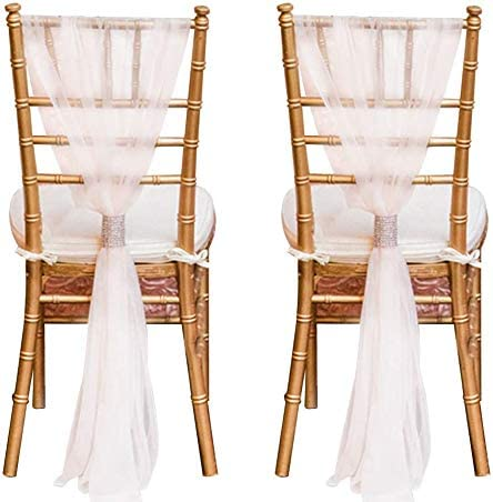 2PCS Tulle Chair Skirts Minneapolis Mall Popular products Cover Bridal DreamJ 71x20inch Wedding S