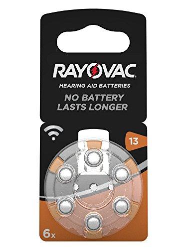 60x Rayovac Acoustic Special Gr. 13 Hörgerätebatterien Pr48 Orange 1,45v (10x 6er Blister= 60 Batterien)
