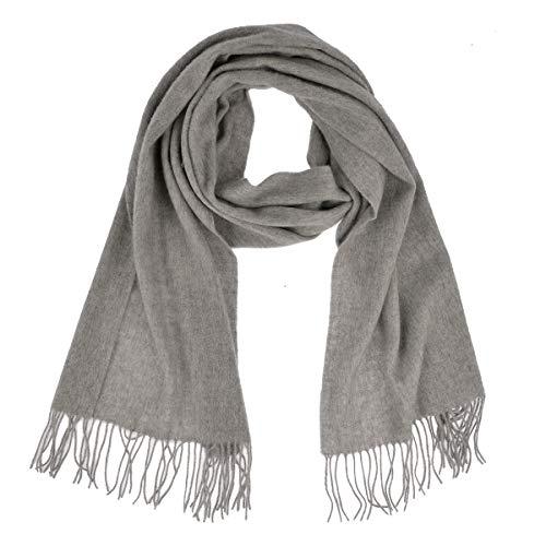 Becksöndergaard winter sjaal dames grijs Crystal Edition - lange warme en dikke wintersjaal zeer zachte wol licht grijs melange - 663004-038
