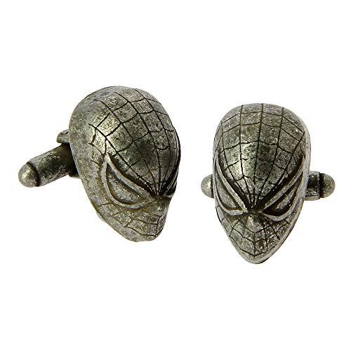 BB Spiderman 3D Manschettenknöpfe – Marvel Comics Herren Superheld Spiderman 3D Manschettenknöpfe mit Geschenkbox