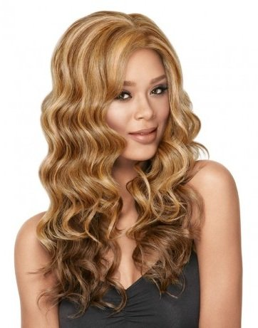 GODDESS WAVES Lace-Front Wig #1104 Created by Sherri Shepherd NOW line for LUXHAIR (Color Selected: FS1B/30)