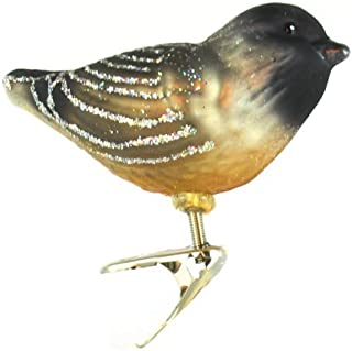Old World Christmas Bird Watcher Collection Glass Blown Ornaments for Christmas Tree Cherry Chickadee