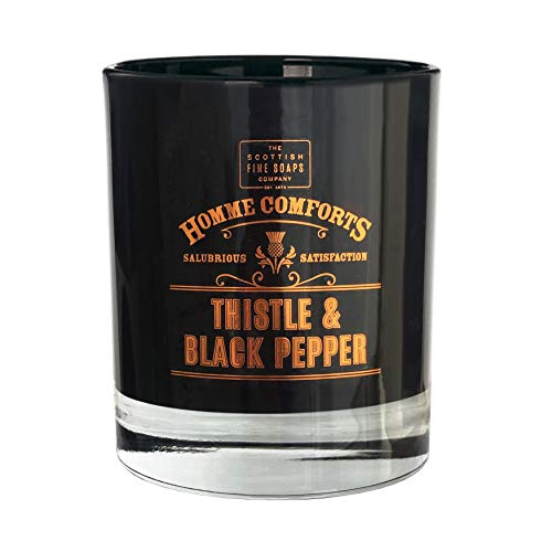 Homme Comforts by Scottish Fine Soaps Thistle & Black Pepper Scented Candle