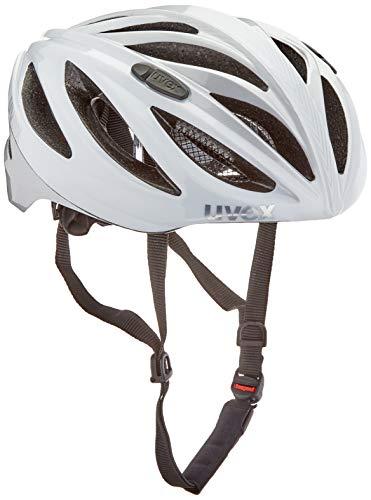 Uvex Boss Race unisex fietshelm voor volwassenen, wit, 52-56