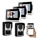 DOLA Videoportero WiFi, Sistema De Intercomunicación Timbre De Video con Pantalla De 7 Pulgadas Y Cámara De Visión Nocturna HD IR, Soporte Desbloqueo, Monitoreo, Grabación E Imagen,G