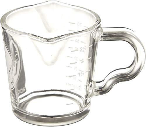 Glas Messbecher Kaffeetasse Doppeltausen Milch Schnapsglas mit Ausgießgriff Hitzebeständig Schnapsglas Graduierung Becher Milch Kaffee Messbecher für Kaffee Espresso Extrakt Tasse
