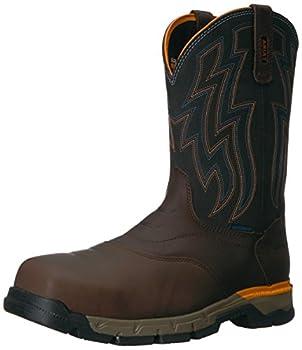 Ariat Men s Rebar Flex Western Waterproof Composite Toe Work Boot Chocolate Brown 10.5