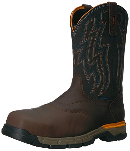 Ariat Work Men's Rebar Western H2O Composite Toe Work Boot, Chocolate Brown, 10 D US
