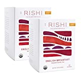 Rishi Tea English Breakfast Herbal Tea | Immune & Heart Support, USDA Certified Organic Black Tea, Caramel Sweetness, Antioxidant Rich | 15 Sachet Bags, 1.69 oz (Pack of 2)