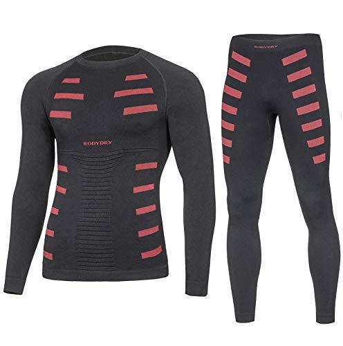 BodyDry Extreme sous-vêtement Thermique pour Homme - Noir/Rouge - XS-S