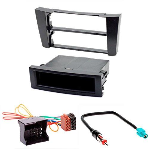 Kit d'installation autoradio Carav 11-009-24-7 - 1 DIN - Pour Mercedes Classe E (W211) 2002-2009, Classe CLS (C219) 2004-2010 - Avec emplacement pour carte ISO et adaptateur pour antenne