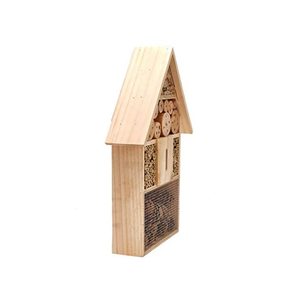 Pet Ting Wooden Insect Hotel Bee Butterfly Ladybird Box Aid Large Wood House 48CM