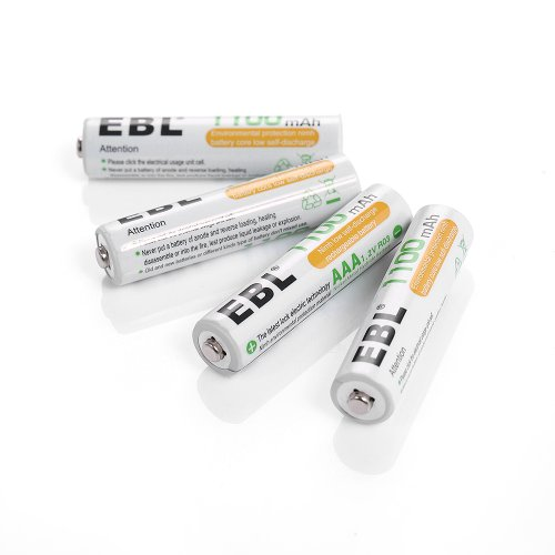 EBL 1100mAh Super Capacity AAA Rechargeable Batteries, 4 Pack