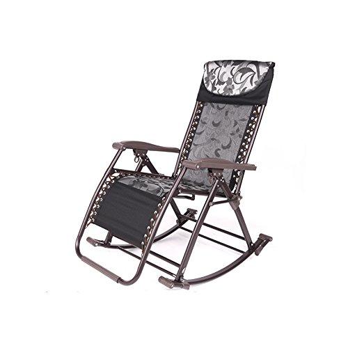 MUMA Chaises longues L-122 Chaise De Loisirs Chaise Pliante Chaise À Bascule Fauteuils Inclinables S'asseoir Chaises Chaise de loisirs (Couleur : Noir)