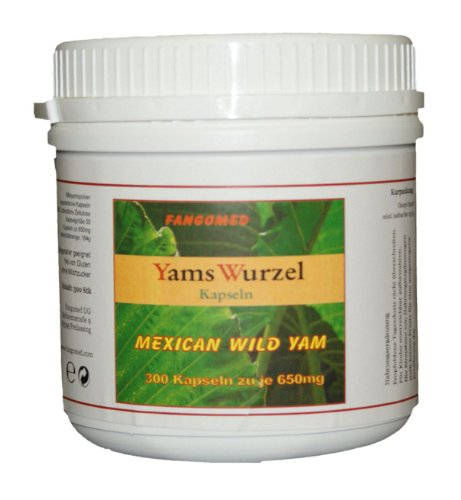 Mexican Wild Yams Kapseln - Dioscorea - naturreine vegetarische Kapseln mit 650mg Füllmenge (300 Stk)