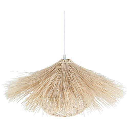 PIXNOR Linterna de Bambú Lámpara Colgante Retro Japonés Rústico Lámpara de Techo Accesorio de Iluminación 40X40x25cm para Sala de Estar Dormitorio Restaurante Casa de Té Comedor sin