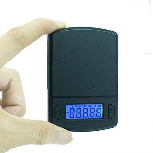 Relaxbx Digitale Taschenwaage, Mini-Taschenwaage, Präzision, für Schmuck, aus Sterling-Silber, Gewichtswaage, LCD, elektronische Waage, 0.01G_X_100G, 0,1 g x 500 g.