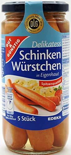 Gut und Günstig Delikatess Schinken-Würstchen, 6er Pack (6 x 380g)