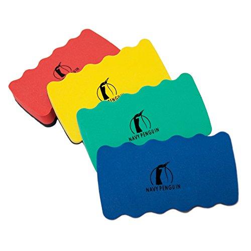 Whiteboard Schwamm Magnetisch Set - 4er Pack - Magnettafel Reiniger Löscher Radierer - Wischer mit starkem Magneten für Trockenreinigung Ihres White Boards von Stiften und Markern - 10 x 6 x 2 cm