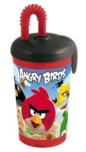 Stor Angry Birds 737130 - Angry Birds - Vaso con Tapa y Pajita 14 cm (400 ml)