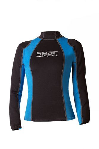 SEAC Warm Guard Long Chaleco Protector Térmico Manga Larga, Mujer, Negro/Azul, L