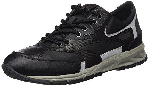 Geox Herren U Delray A Sneaker, Schwarz (BLACKC9999), 41