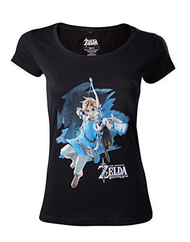 The Legend of Zelda Breath Of The Wild - Link With Arrow Camiseta Mujer Negro M