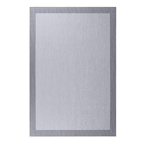 Alfombra vinílica Deblon – Alfombra de PVC Antideslizante y Resistente, Ideal para salón, Cocina, baño… ¡Disponible en Medidas Grandes y más Colores! (200cm x 290cm, Gris Claro)