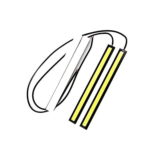 WANSHIDA QiQi Shop 2X 17cm Estilo de Coche LED Bombilla de COB 12V 6000K Panel Blanco DRL COB LED Luz Interior Atmósfera Externa Lámpara Durante el Día Luz de Funcionamiento (Emitting Color : White)