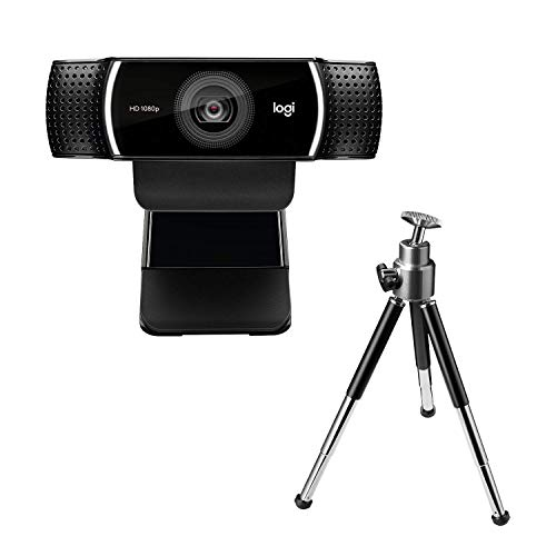 Logitech C922 Pro Stream Webcam, Streaming Veloce HD 1080p 30fps o HD 720p 60fps, Correzione Luce HD, Autofocus, Audio ‎Stereo, Per YouTube, Twitch, XSplit, ‎PC Mac Laptop Macbook Tablet, Nero
