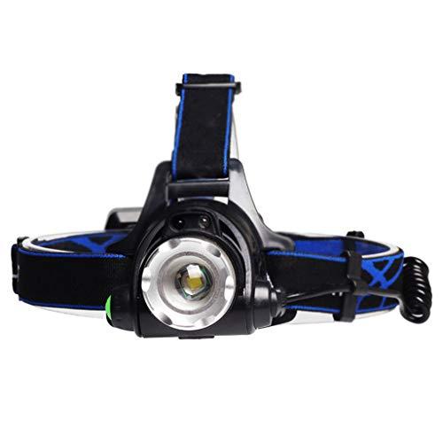 RMXMY Alliage d'aluminium LED chargeant extérieur Zoom rétractable étanche éclairage éblouissement Longue portée Chasse phares à Induction de pêche