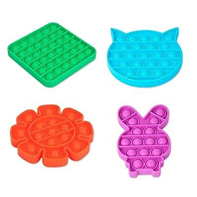 4 Pcs Push Bubble Fidget Sensory Toy for Autist...