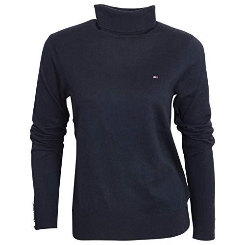 Tommy Hilfiger Damen Soft Cotton Roll-nk Sweater Ls Pullover, Desert Sky, XL