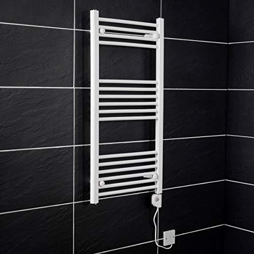 Warmehaus Elektrischer Handtuchheizkörper Elektro Badheizkörper Bad Heizung 1000x500 Weiß