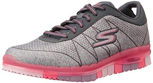Skechers Damen GO FlexAbility Sneakers, Grau (GYHP), 36 EU