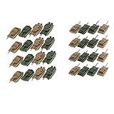Sharplace 32pcs Véhicule Miniature - Modèle À L'échelle 1: 144 - Char - Bac à Sable
