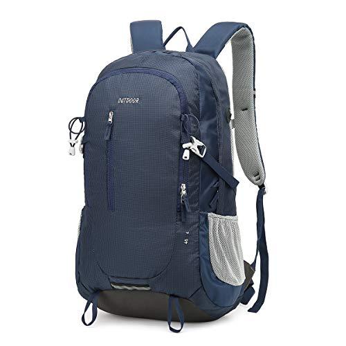 Reiserucksack, Trekkingrucksack 45L, Outdoor-Rucksack mit reflektierenden Streifen, geeignet zum Wandern, Radfahren, Bergsteigen und Reisesport, wasserdichter Rucksack für Männer und Frauen,
