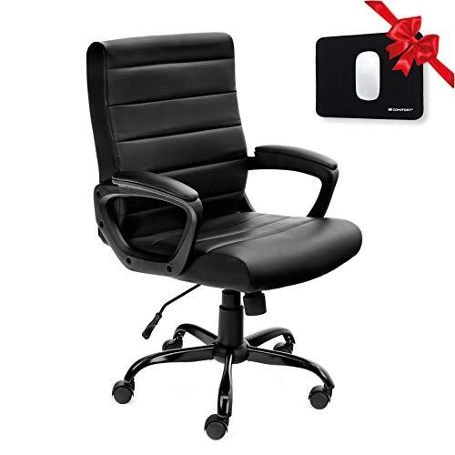 COMIFORT Schreibtischstuhl, ergonomische Bürostühle aus Kunstleder, hohe Qualität für Freizeit und Computer, Jugendstühle mit Rollen, höhenverstellbar und verstellbar.