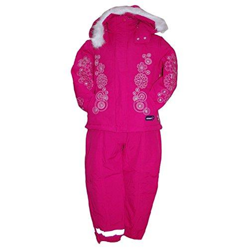 Outburst - Schneeanzug Skianzug Jacke und Hose Baby Mädchen Fleecefutter wasserabweisend, pink - 80pink