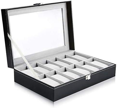 Ohuhu® Caja de reloj ,12-Slot de Cuero Caja / Caja de Reloj / Joyería / Reloj Exhibición de la Joyería de Almacenamie...