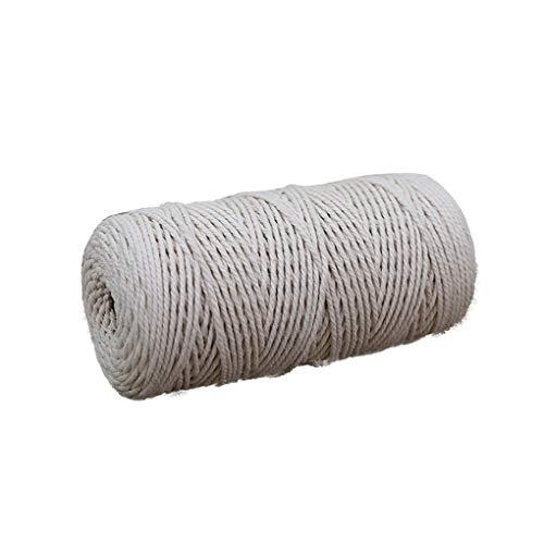 Hotaluyt 200m m Baumwollschnur DIY Fertigkeit-Topf-Halter Machen Vorhang Gebunden Seil Betriebsaufhänger Garten-Blumen-Topf-Halter String